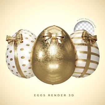 Golden 3d render easter egg