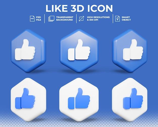Gosto realista ou sinal de semelhante ícone 3d