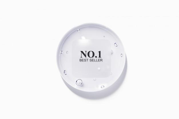 Gota de água com etiqueta áspera nublada plástica