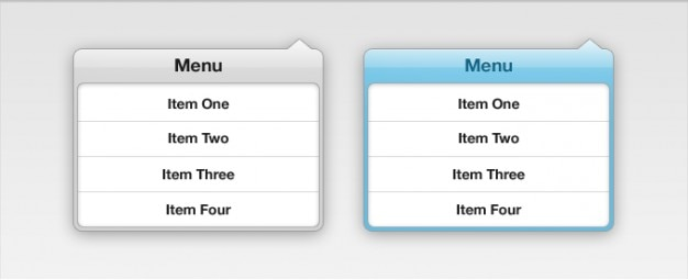Gota para baixo do menu de interface