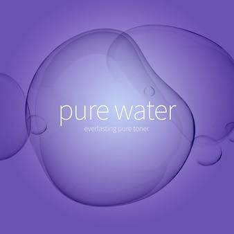 Gotas de água transparente