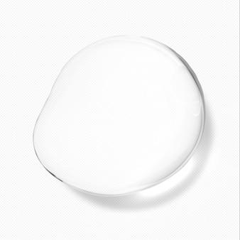 Gotas de água transparentes