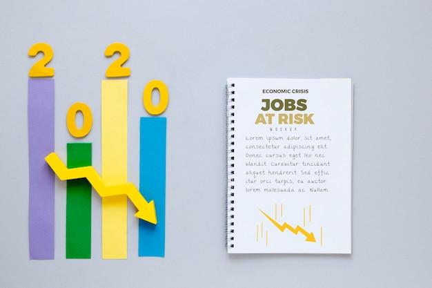 Gráfico de crise econômica
