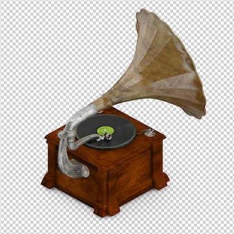Gramofone isométrico