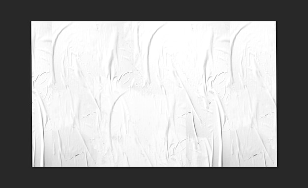 Grande painel branco em maquete de superfície preta