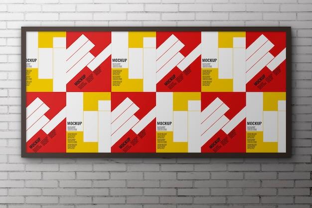 Grande painel para maquete de publicidade