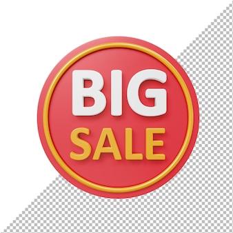 Grande venda 3d emblema isolado