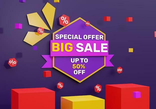 Grande venda 3d realista