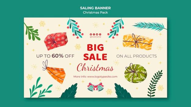 Grande venda com descontos para o natal