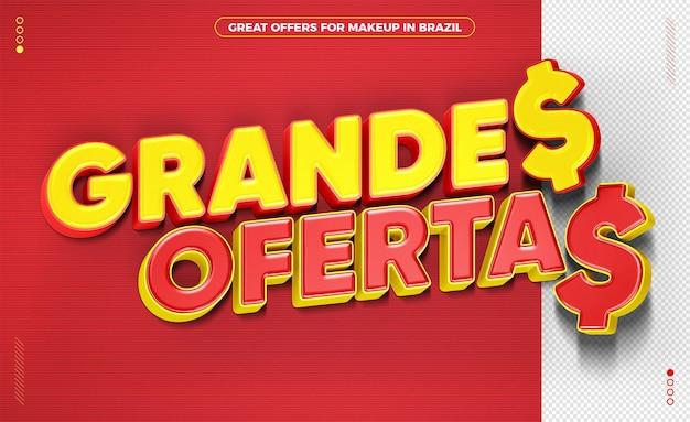 Grandes ofertas no selo brasil 3d