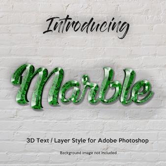 Granito de mármore 3d texturizado efeitos de texto de estilo de camada photoshop