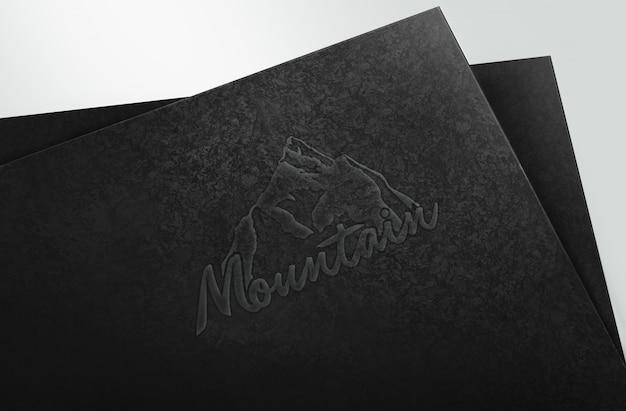 Gravar logotipo maquete modelo