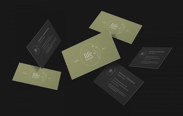 Grupo de maquete mínima de cartões de visita