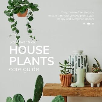Guia de cuidados psd de modelo amante de plantas