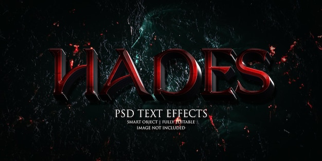 Hades text effect