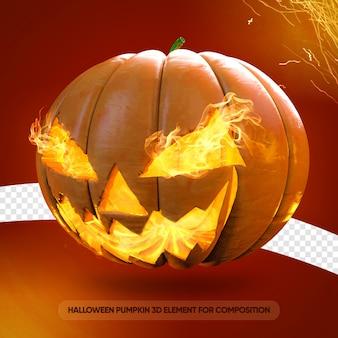 Halloween abóbora jack o lantern renderização 3d