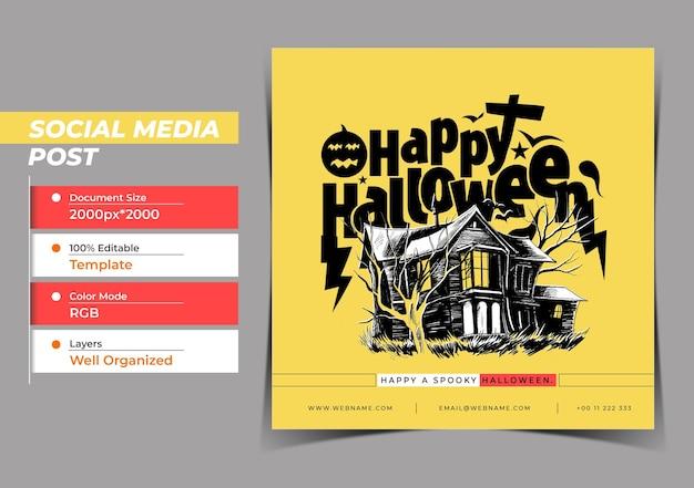 Happy halloween festival conceito digital instagram e social me
