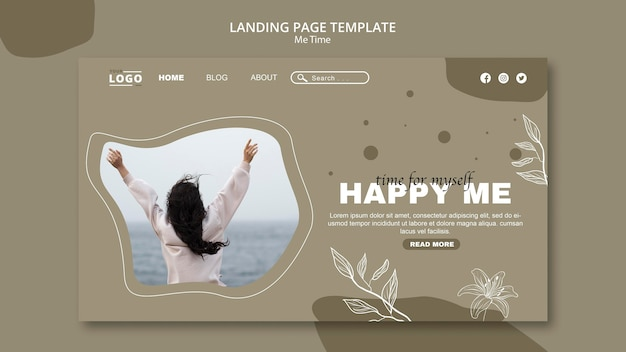 Happy me landing page template