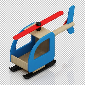 Helicóptero miúdo isométrico