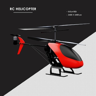 Helicóptero rc isolado da vista frontal direita