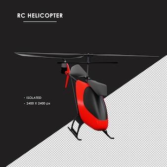Helicóptero rc isolado da vista superior do ângulo direito