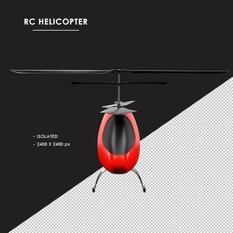 Helicóptero rc isolado de vista frontal