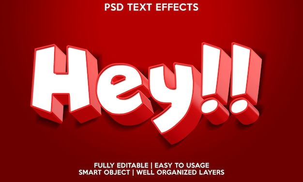 Hey efeito de texto