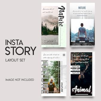 História de instagram de mídia social