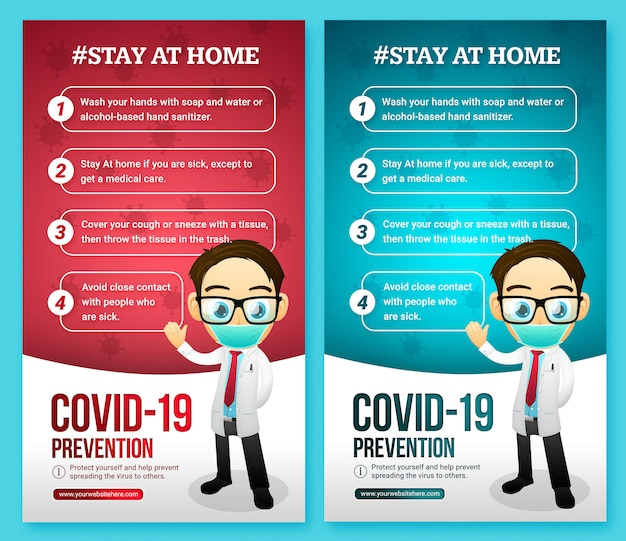 História de mídia social de conselhos sobre infecção por vírus