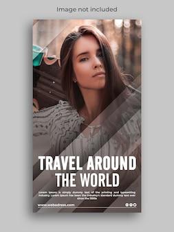 História de mídia social do instagram de viagens