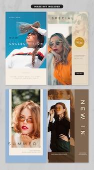 História de mídia social no tema de moda e moda