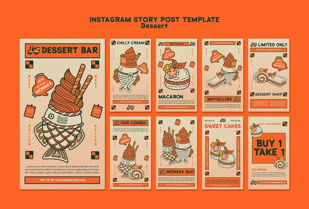 História de sobremesa instagram