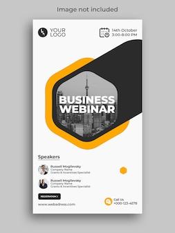 História do instagram da conferência do webinar do marketing digital do negócio