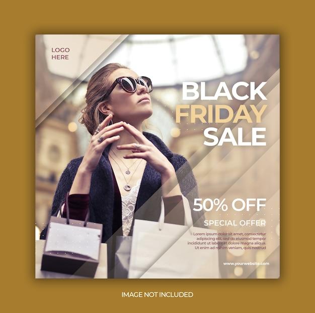 História ou modelo do instagram black friday