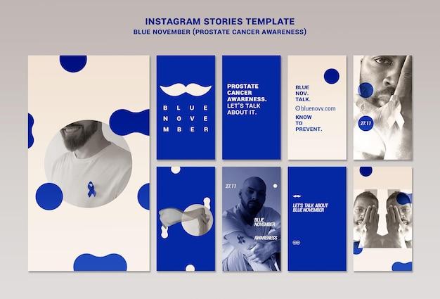Histórias azuis do instagram de novembro