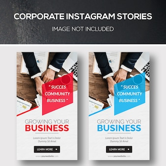 Histórias corporativas do instagram
