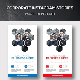 Histórias corporativas do instagram