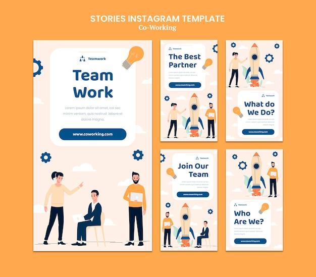 Histórias criativas de redes sociais
