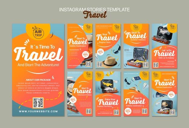 Histórias criativas de viagens nas mídias sociais