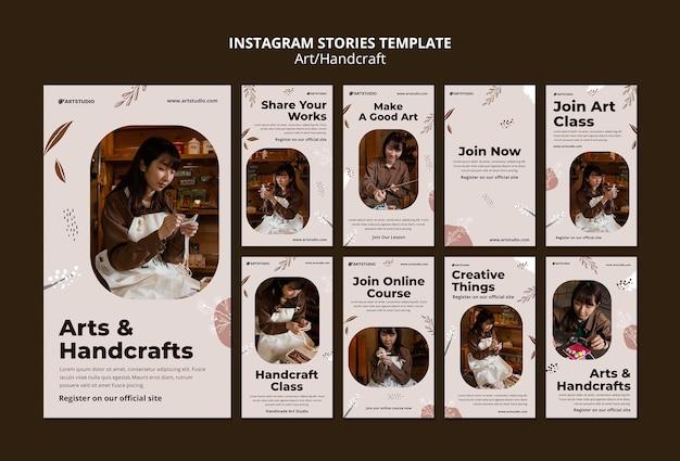 Histórias de arte e artesanato no instagram