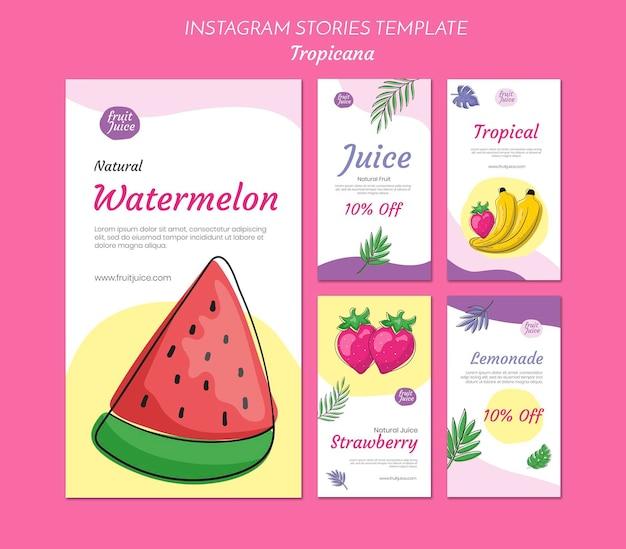 Histórias de bebidas no instagram