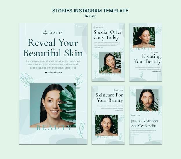 Histórias de beleza no instagram