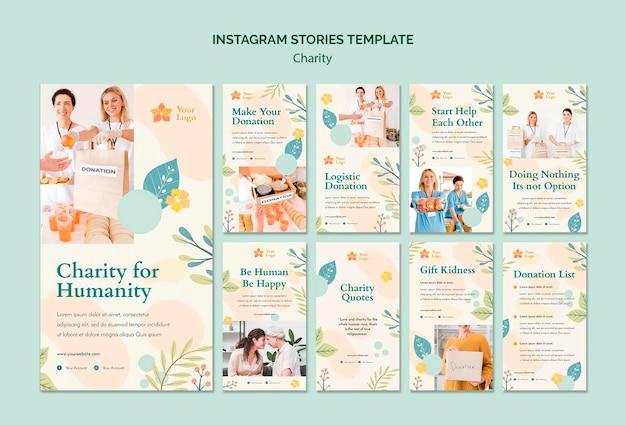 Histórias de caridade no instagram
