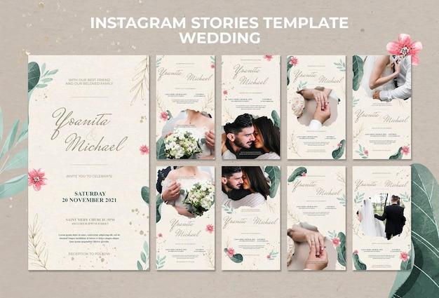 Histórias de casamento no instagram