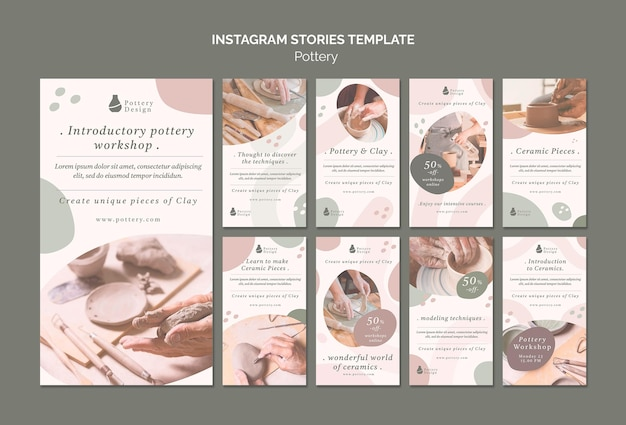 Histórias de cerâmica no instagram