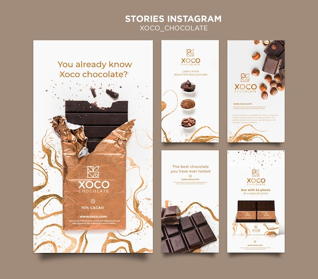Histórias de chocolate instagram publicidade