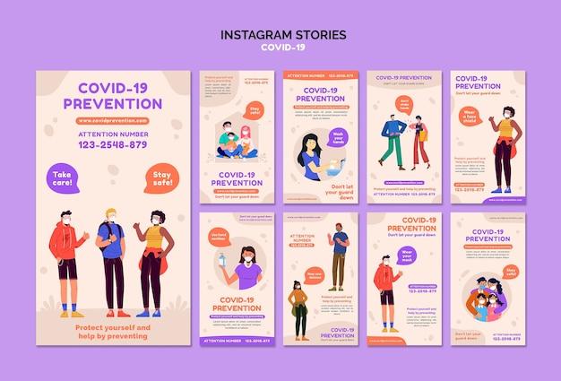Histórias de covid 19 no instagram