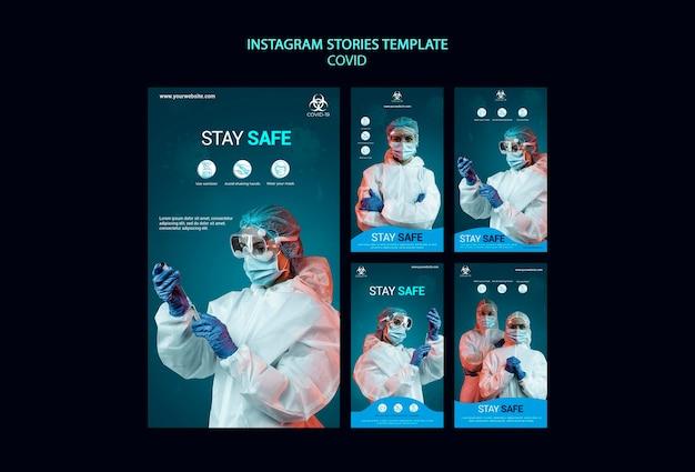 Histórias de covid no instagram