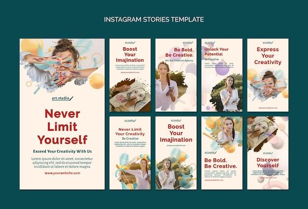 Histórias de criatividade nas redes sociais