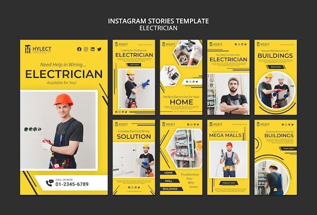 Histórias de eletricista no instagram